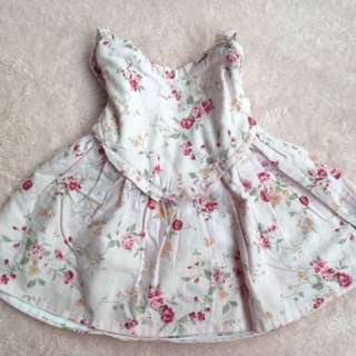 Baby dress pink flowers 0-6m