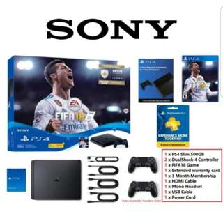 PS4 Slim FIFA Bundle with 2 controllers