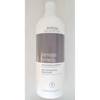 (New 1L + Free Pump) Aveda Damage Remedy Restructuring Conditioner