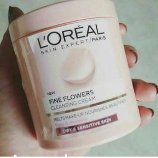 Loreal Fine Flowers Cleansing Cream.