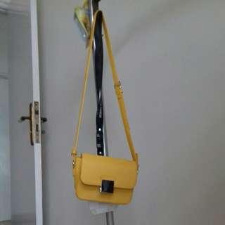 Zara basic bag yellow