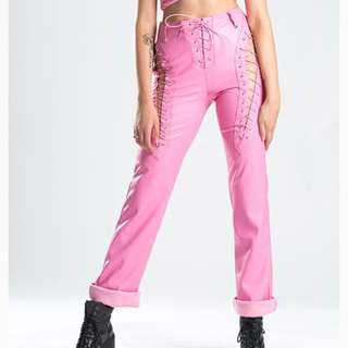 I am gia xtina pink pants