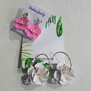 Ivory Flower Earings