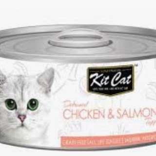 Kitcat 80g tuna base & chicken base 24cans