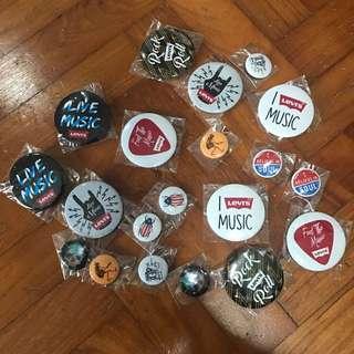 Levi's Music Badges
