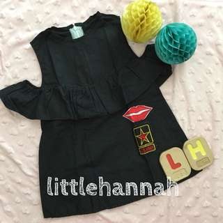 🎈Instock - Baby Toddler Girl Patch Cotton Dress (1-2Y)