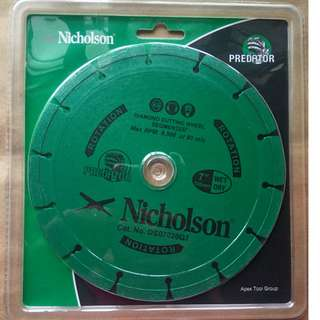 "Nicholson Diamond Cutting Wheel 7"" Segmented"