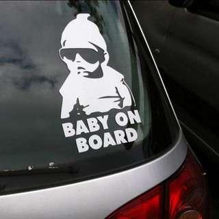 $8 Baby On Board car sticker