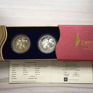 Singapore 2006 IMF World Bank $5 proof coins set