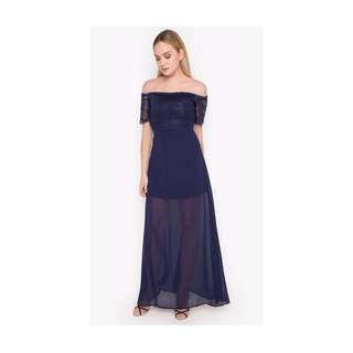 Navy Blue Long Semi Formal Dress