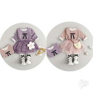 Girl Ribbon Strip Tutu Longsleeve