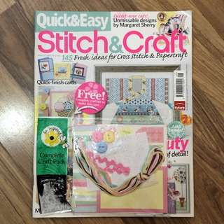 Cross stitch magazine with free card ice cream kit