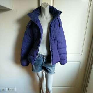 【狗年大出清特價500】FYDI fashion紫藍色輕量保暖連帽羽絨外套