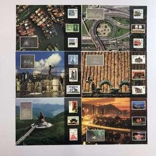 1997 香港郵展發行全息圖明信片 一套6張