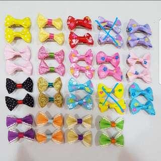 (Buy 5 Pairs Free 1 Pair) Ribbon Bow Hair Clips series
