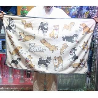 「柴犬 可愛ㄉ狗狗 毯子 毛毯 被被 棉被 120x80cm@公雞漢堡」