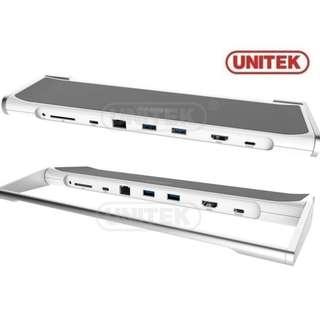 Unitek Y-3708 USB 3.0 Type-C Docking Station (Hub, Lan, Card Reader, HDMI) - 原裝行貨