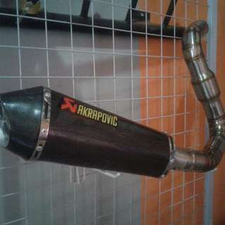 [AKRAPOVIC] CAN FIT FOR FZ16 / R15
