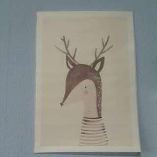 Reindeer art painting