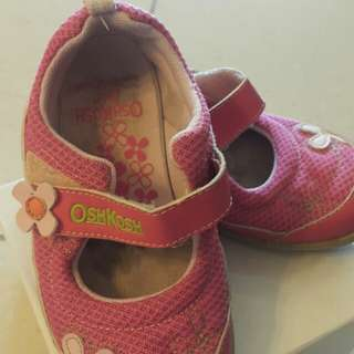 OshKosh Pink flower Girl Shoe