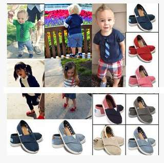 正品代購TOMS帆布鞋童鞋經典魔術貼男童女童寶貝走路學步嬰兒鞋