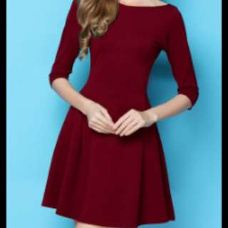 MAROON mini prom dinner dress