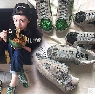 韓國春季2017新款潮百搭做舊星星亮片小臟鞋韓版平底休閑鞋學生女