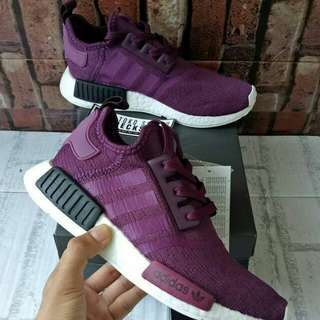 ADIDAS NMD R1 JUST FOR KICKS NIGHT PURPLE UNAUTHORIZED AUTHENTIC (UA)  BASF BOOST