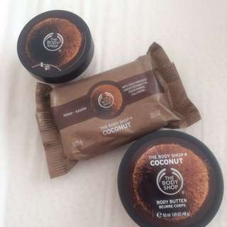 Body shop🌿Soap, body butter &a body scrub