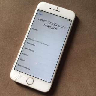 iPhone 6 Silver 16gb Globelocked may icloud issue