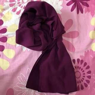 Soft Chiffon Shawl (Purple)