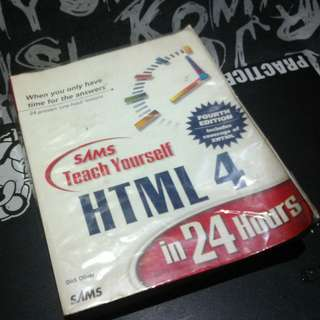 SAMS Teach yourself HTML4 in 24 Hours