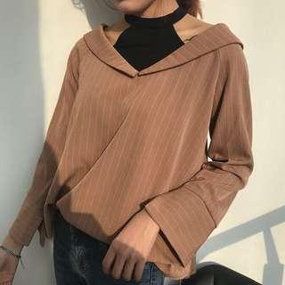 Khaki halter shirt