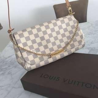 Authentic Louis Vuitton Damier Azure Favorite Pouchette