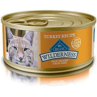 CLEARANCE 13 5.5oz Cans: Blue Buffalo Wilderness Turkey Grain-Free Canned Cat Food
