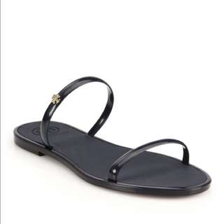 Authentic tory burch two band jelly slides size 36