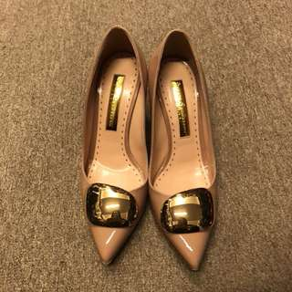 Rupert Sanderson dirty pink high heel size 38.5