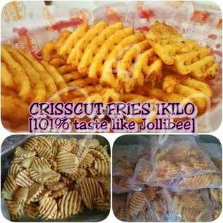 CRISSCUT FRIES 1KILO PER PACK