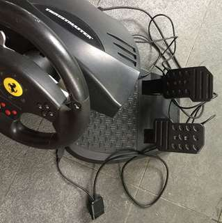 Pc and ps3 (ps4 with usb connector dongle) thrustmaster