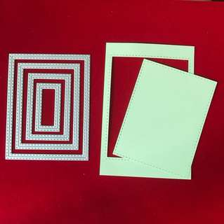 Inside and outside stitched rectangle scrapbooking Cutting Dies