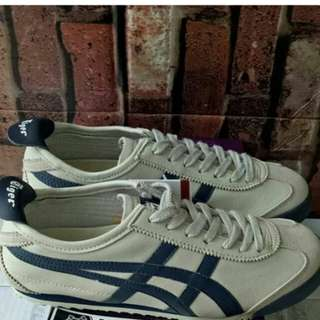 ONITSUKA TIGER MEXICO 66 DULUXE CREAM NAVY UNAUTHORIZED AUTHENTIC (UA)  SIZE 40-45 STOCK TERBATAS