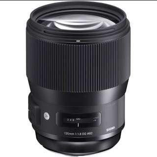 Sigma ART 135mm 1.8 Nikon Mount