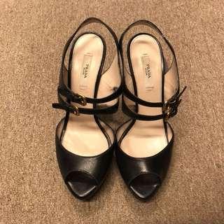 Prada open toes platform high heel size 38