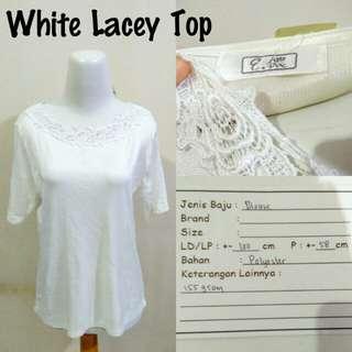 White Lacey Top | Pakaian Wanita | Atasan Import