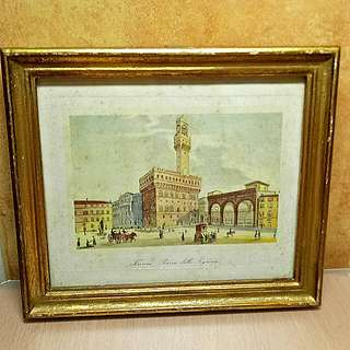 Vintage Mini Picture with Frame of Italy ( Hand Made In Florence Italy ) $59.00 for all 3pcs.