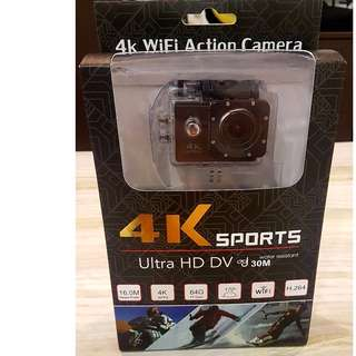 SPORT ACTION CAMERA WIFI 4K ULTRA HD WIDE ANGLE WATERPROOF