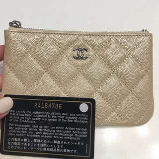 Chanel coins bag米色