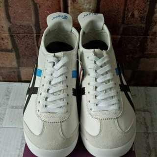 ONITSUKA TIGER MEXICO 66 DULUXE WHITE BLACK BLUE UNAUTHORIZED AUTHENTIC (UA)  SIZE 36-40 STOCK TERBATAS