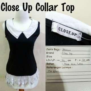 Close Up Collar Top | Pakaian Wanita | Atasan Import