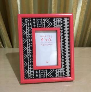 Pink Typo Picture Frame